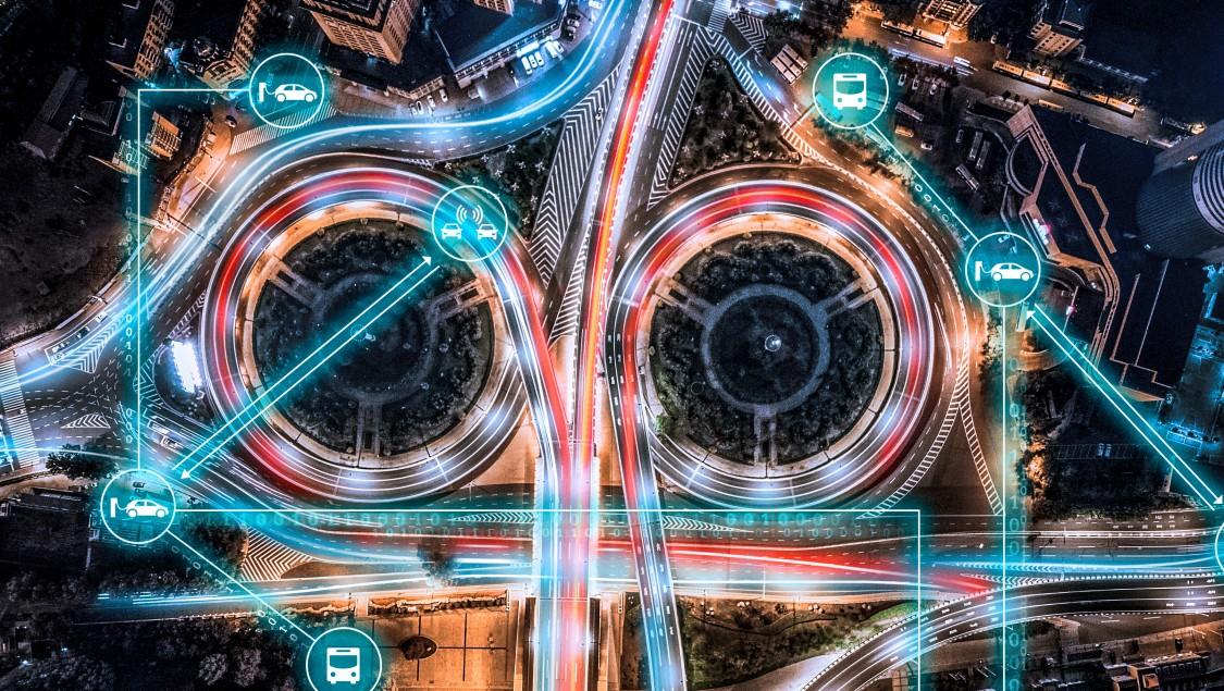 digital energy overlay on roadway system
