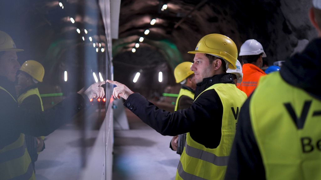 Digital twin in Hagerbach Test Gallery - Tunnel Digitalization Center automated with Siemens technology