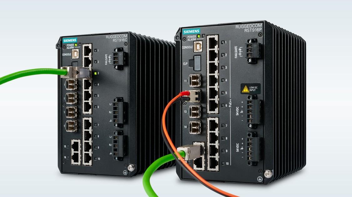RUGGEDCOM RST916C Kompakte und robuste Layer-2-Managed-Ethernet-Switch