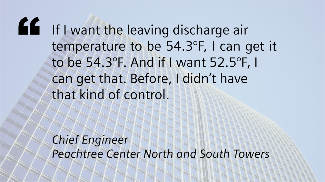 Quote from Chief Engineer: If I want the leaving discharge air temperature to be 54.3 degrees, I can get it to be 54.3 degrees. And if I want 52.5 degrees, I can get that.