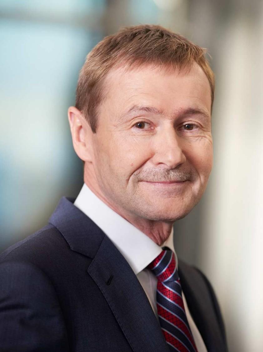 Afbeelding van Klaus Helmrich, lid van de Managing Board van Siemens AG