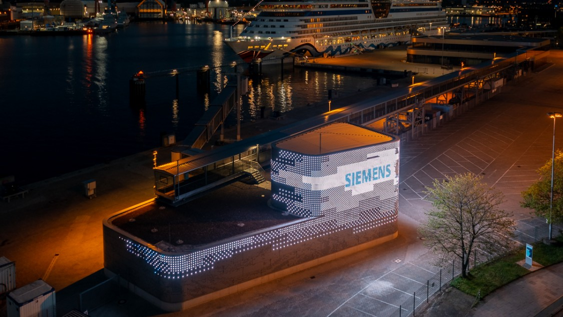 Onshore power system in Kiel, Germany