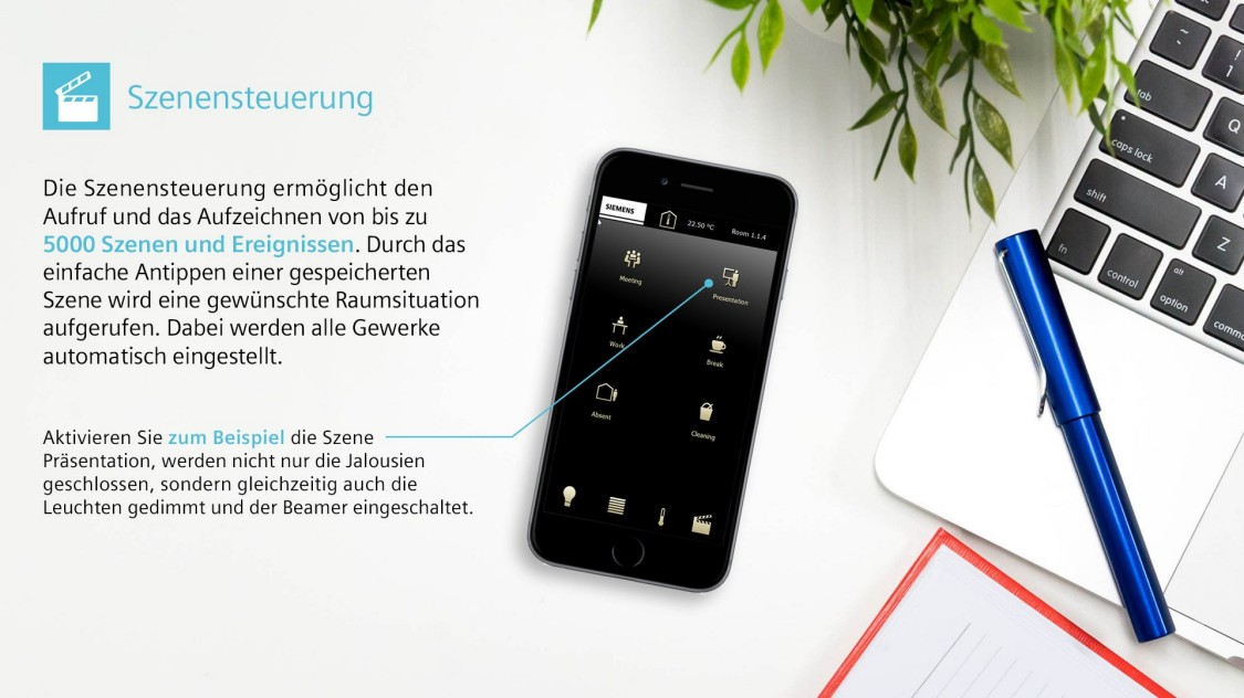 Scene control smartphone