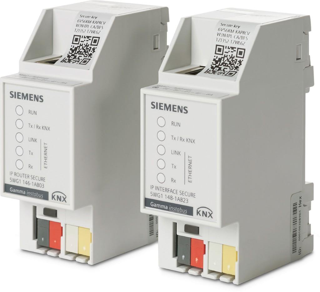 Das Bild zeigt die neuen IP-Router des Gebäudesystems Gamma instabus.
