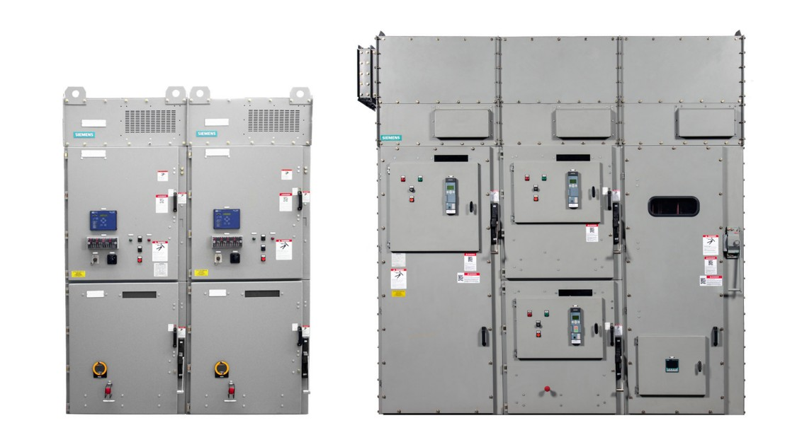 Siemens SIMOVAC non-arc-resistant and SIMOVAC-AR arc-resistant medium-voltage controllers