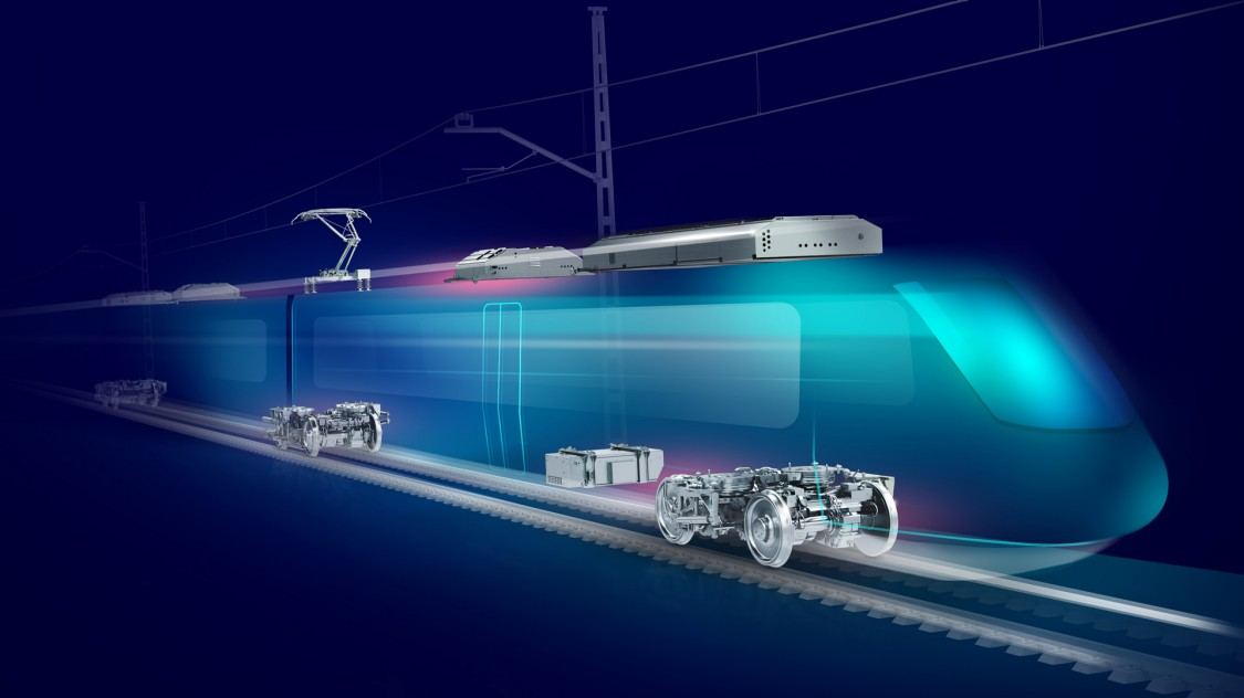 Triebzug mit MoComp Bahnkomponenten