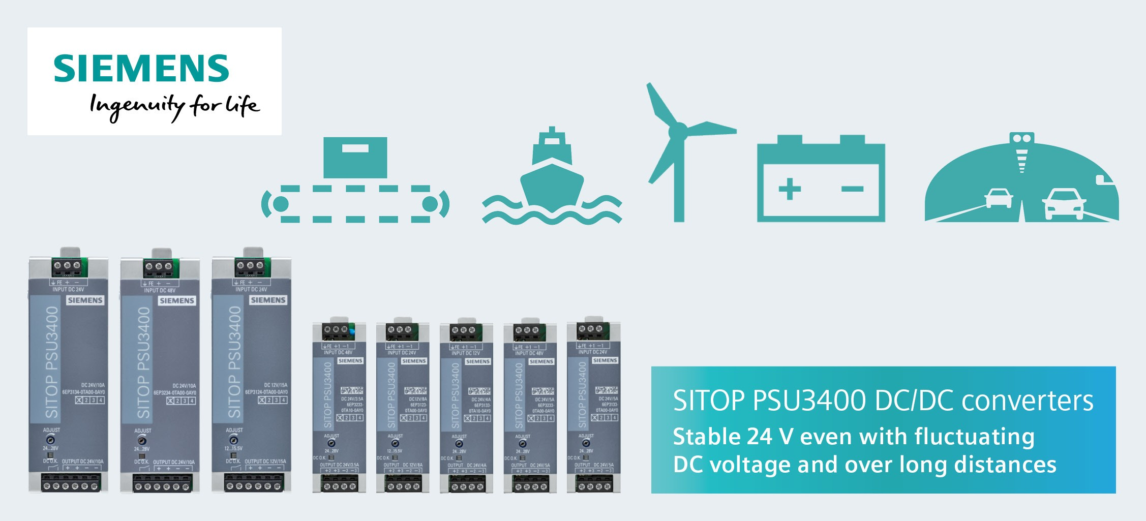 SITOP PSU3400 DC/DC converters