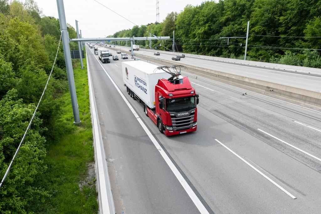 Siemens eHighway: Testfahrt
