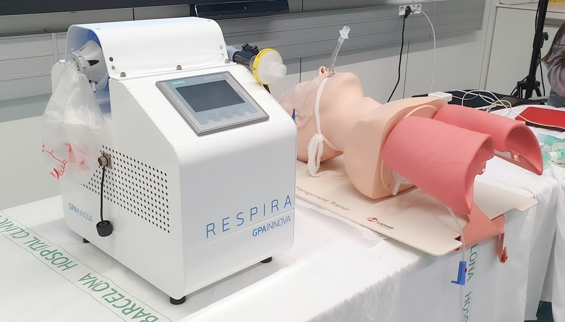 Notfallbeatmungsgerät Respira mit SITOP lite