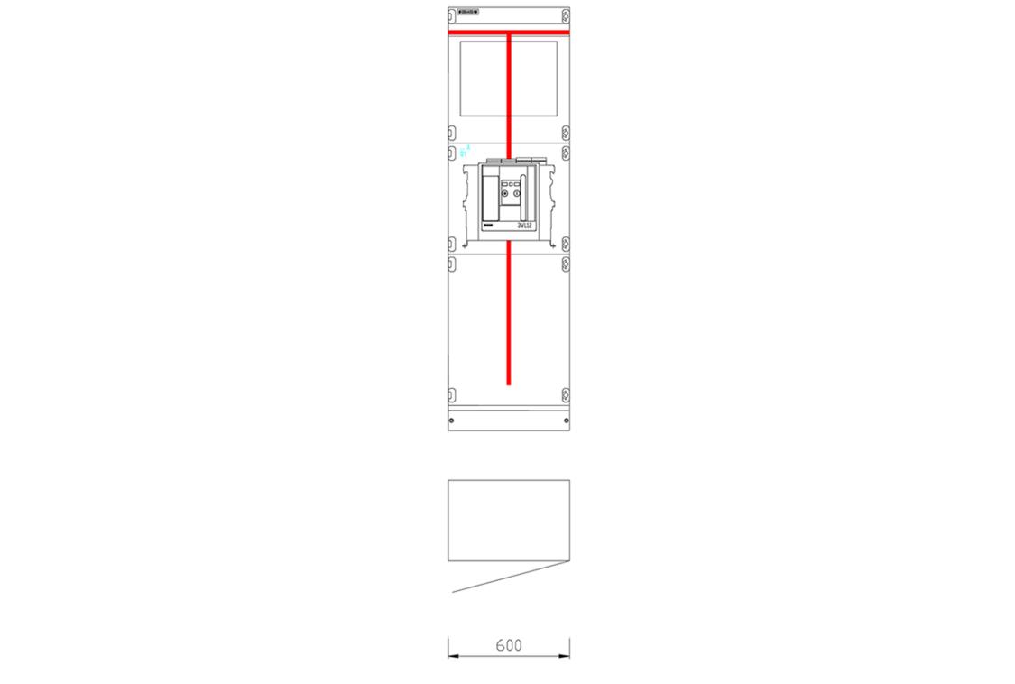 Przykładowy widok pola rozdzielnicy SIVACON S4