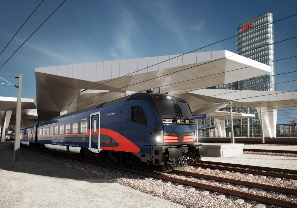 ÖBB and Siemens Mobility present exterior design of the new Nightjet