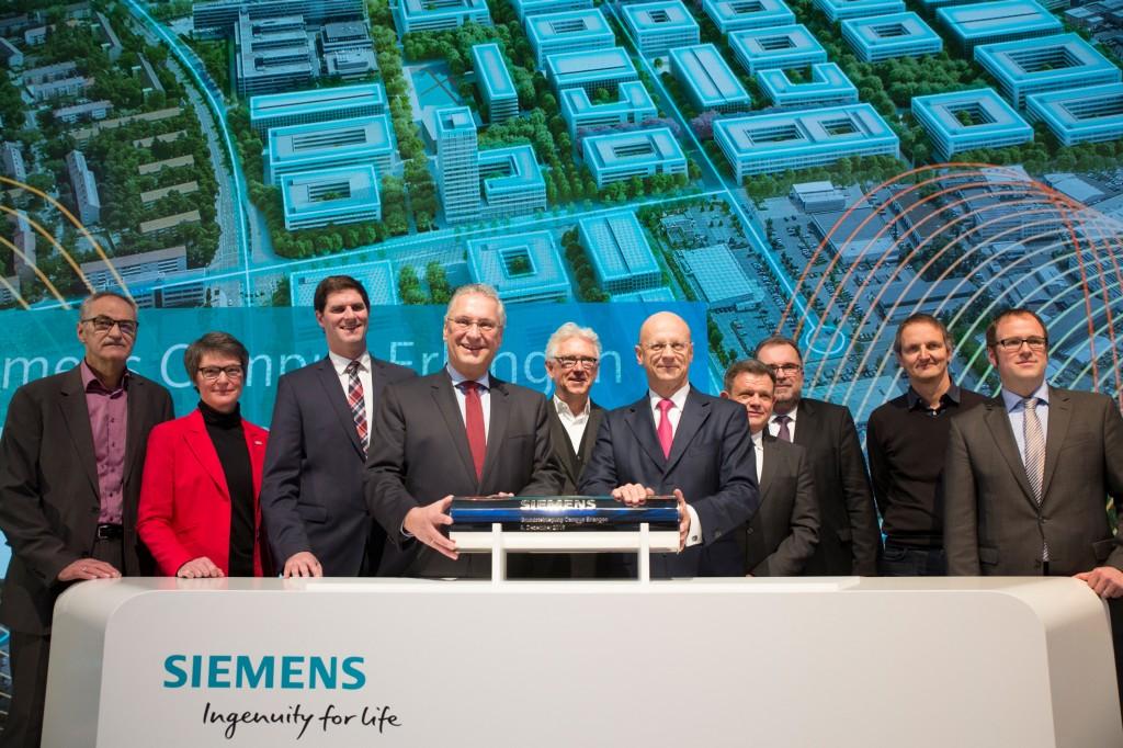 (Virtuelle) Grundsteinlegung zum Siemens Campus Erlangen am 9. Dezember 2016