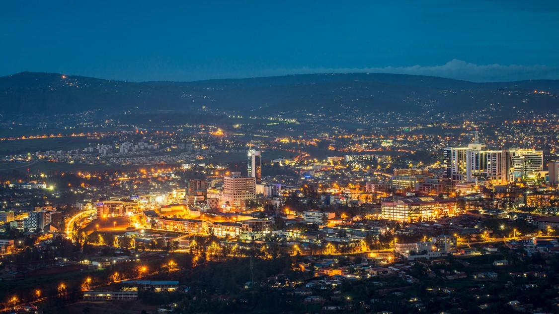 View of Kigali, capital of Rwanda