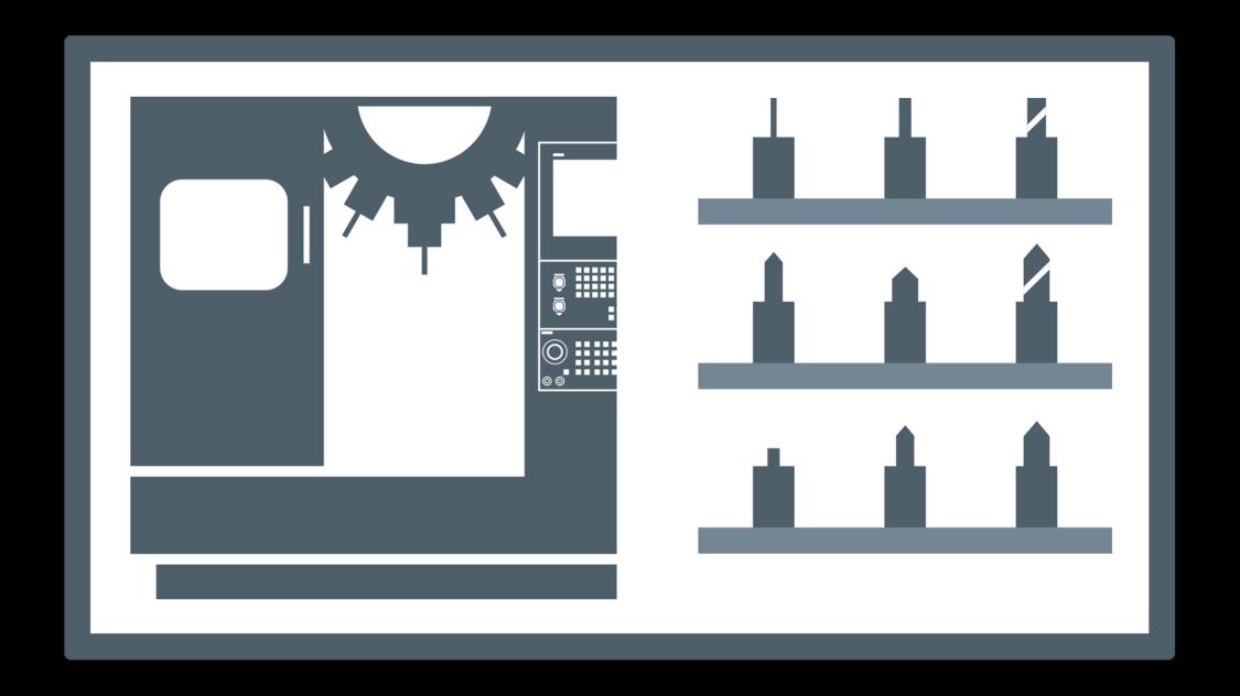 Illustration Werkzeugmanagementsystem