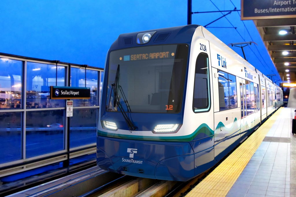 122 light rail vehicles for Seattle and Central Puget Sound area