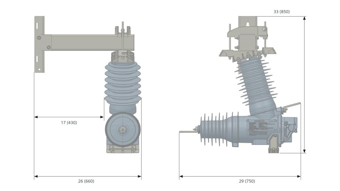 Pole-mounted CMR assembly