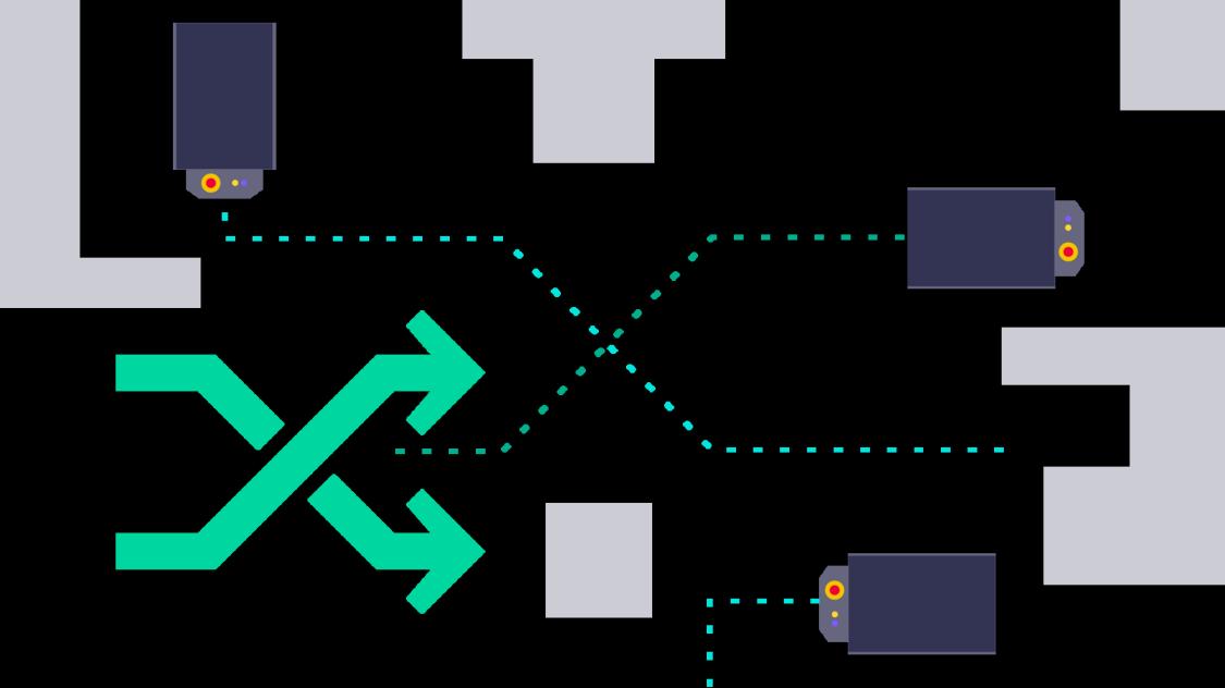 Fahrerlose Transportsysteme (FTS) von Siemens können flexibel ohne Umbaumaßnahmen eingesetzt werden