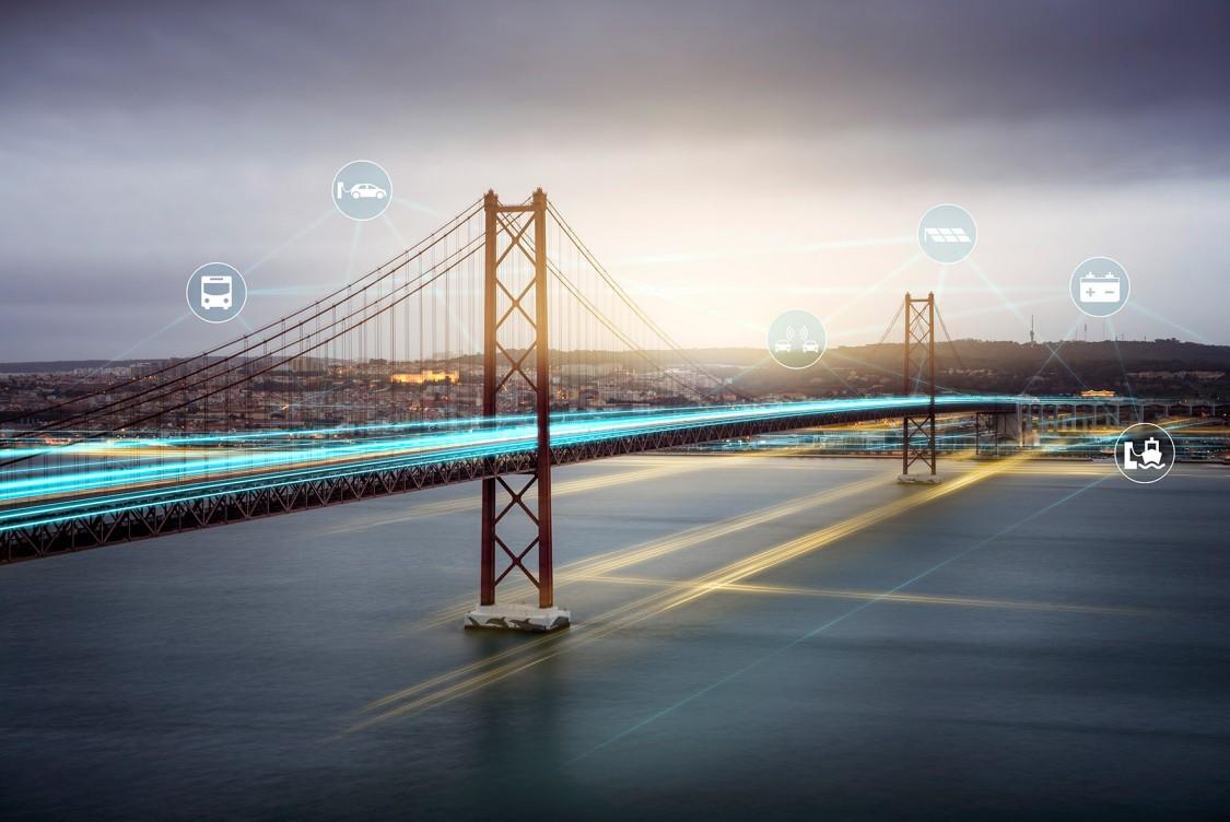 bridge with digital layer