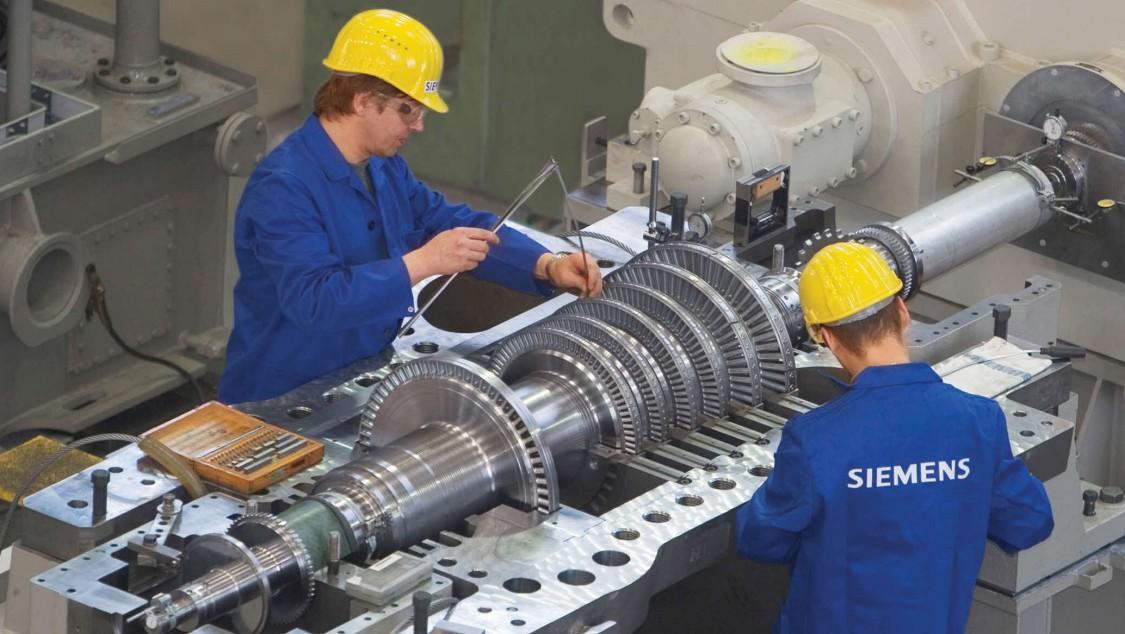 Dampfturbinenfertigung im Werk Görlitz