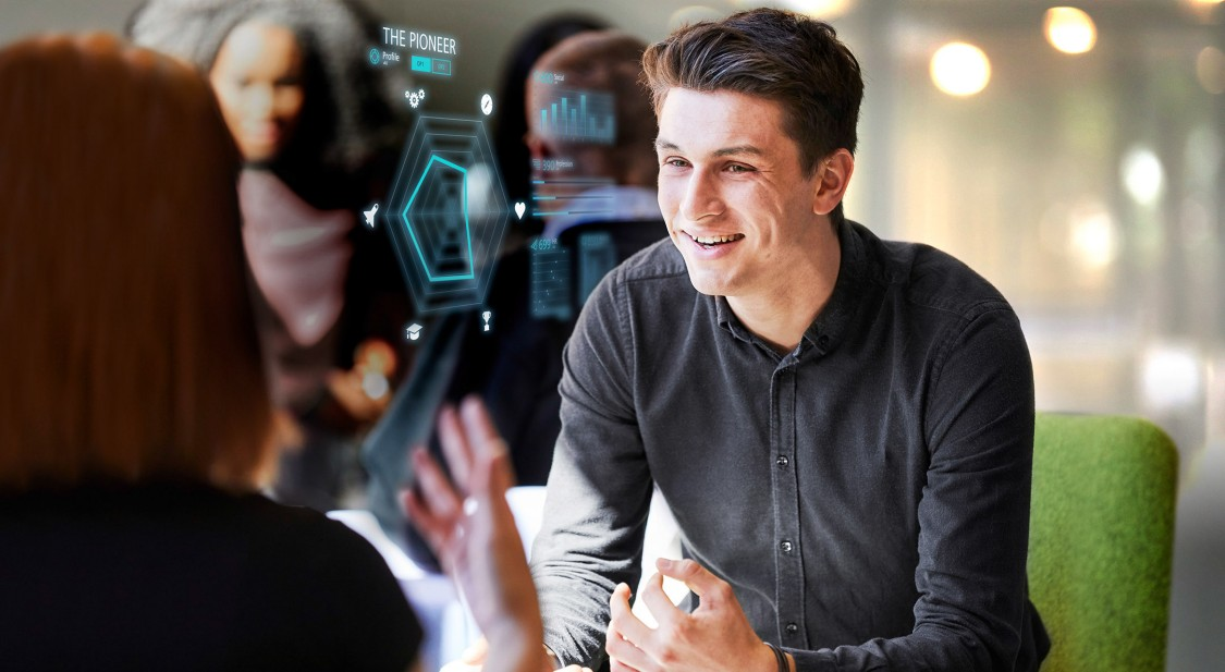 Siemens employees talking