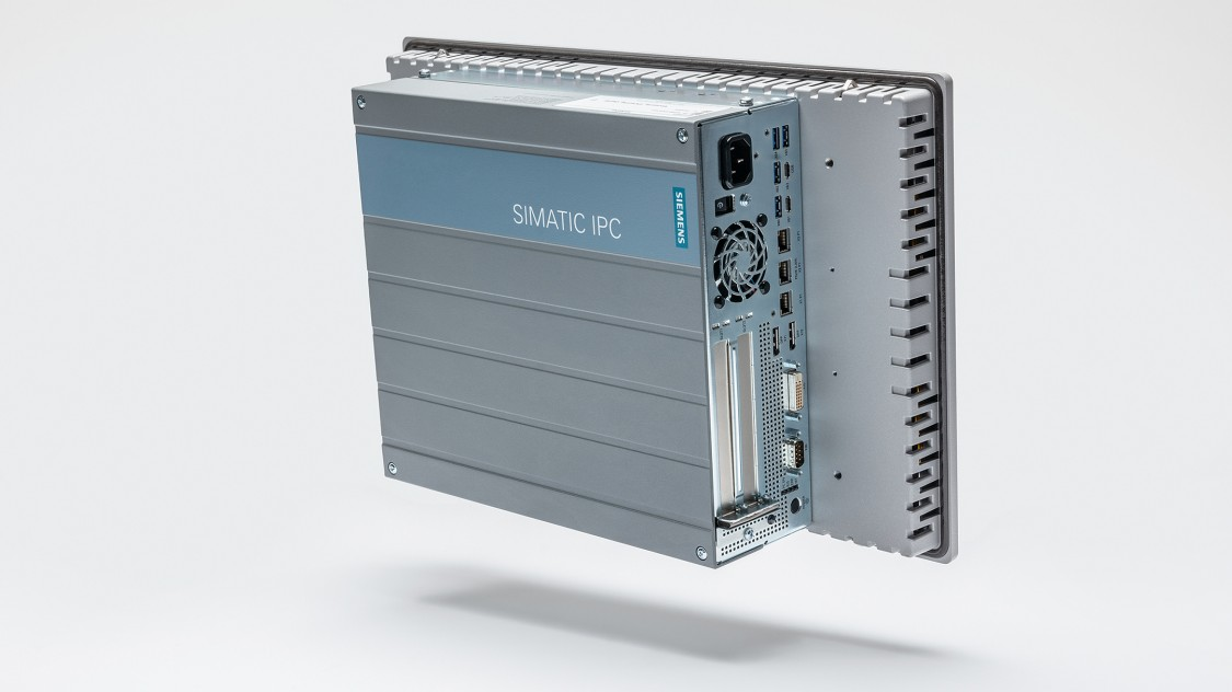 SIMATIC IPC677E, High-End Panel PC Back view