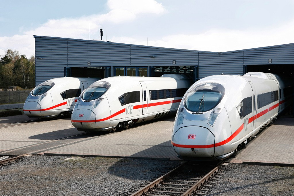 Velaro D high-speed trains at the Siemens test track