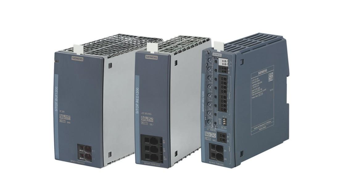 SITOP BUF1200 (300 ms/40 A), SITOP RED1200 (40 A) und SITOP SEL1200 (8 x 10 A)