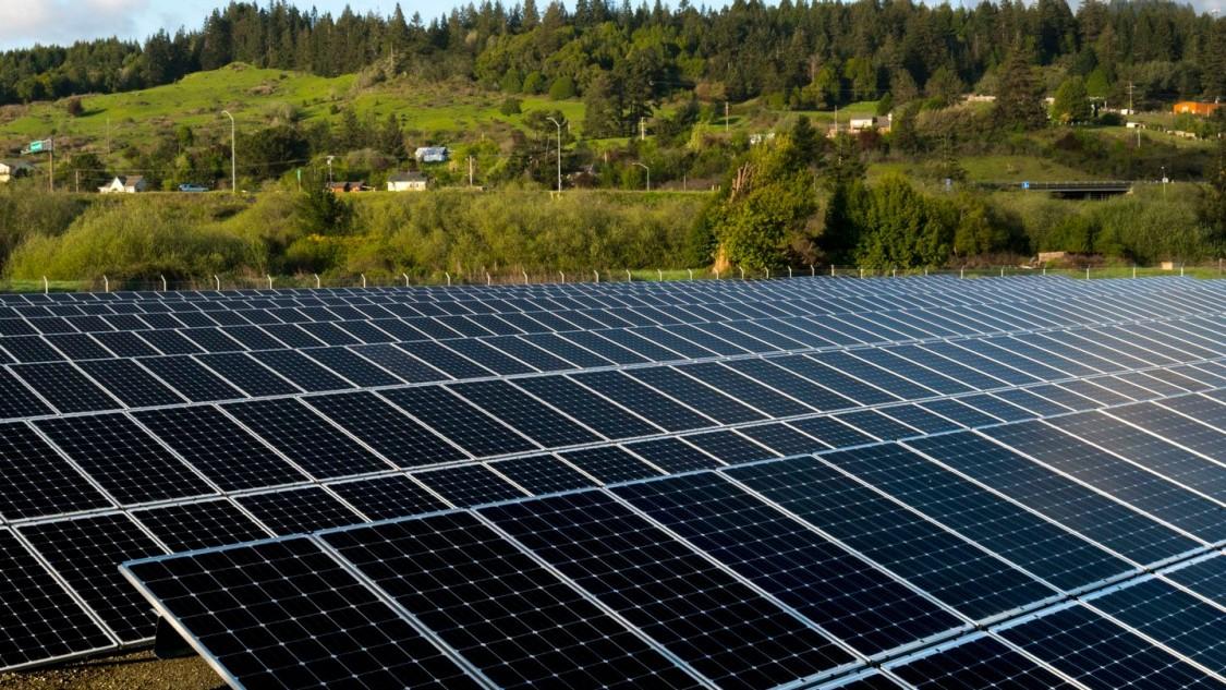 Solar panels at Blue Lake Rancheria