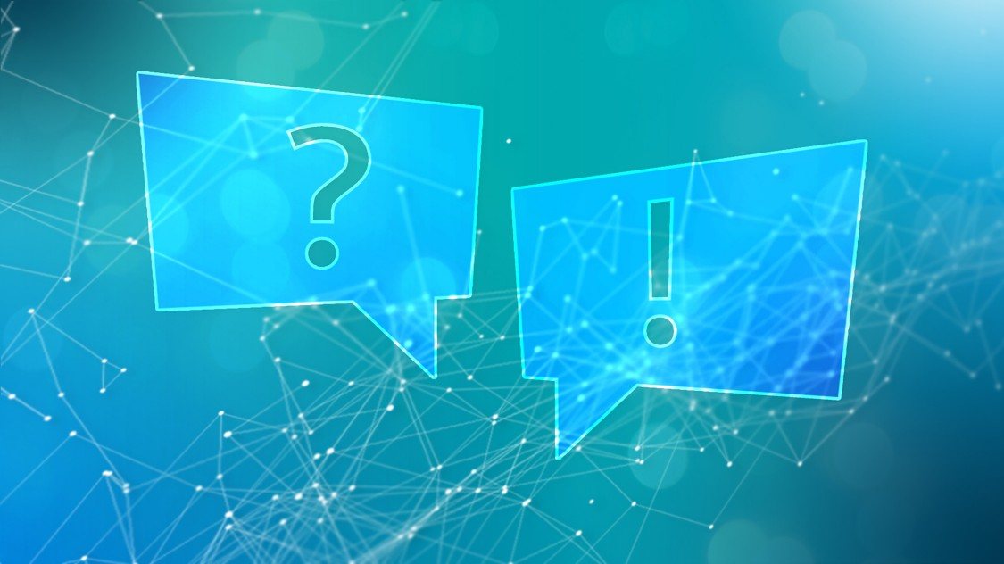 Tech News banner image - question mark and exclamation mark
